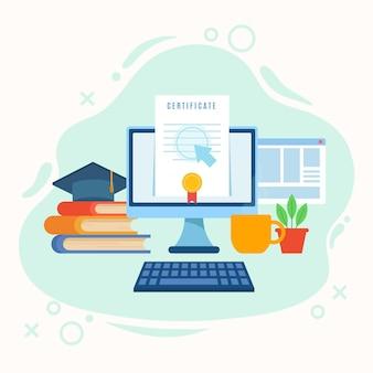 Online certificeringsstijl