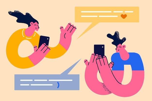 Online chat- en communicatieconcept