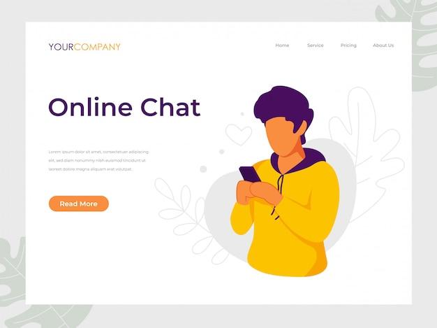 Online chat man sms'en