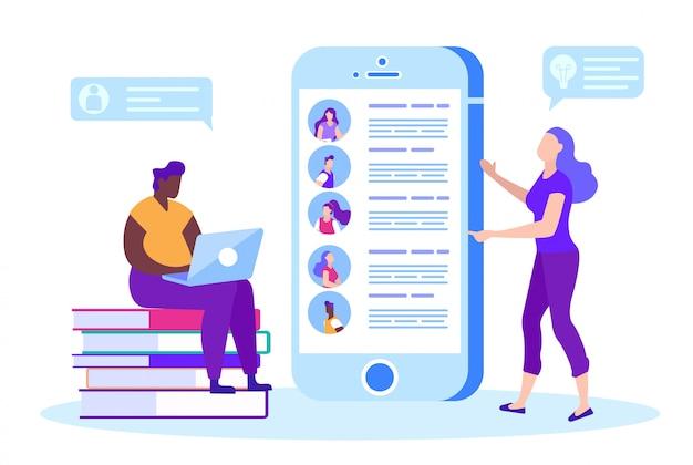 Online chat op smartphone