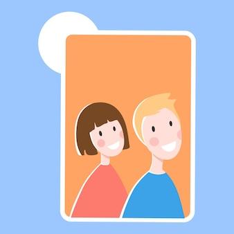Online communicatie, conferentie, werk of vriendschap oproep van wereldwijde mensen concept achtergrond, platte cartoon stijl vectorillustratie.