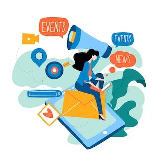 Online communicatie over promotie