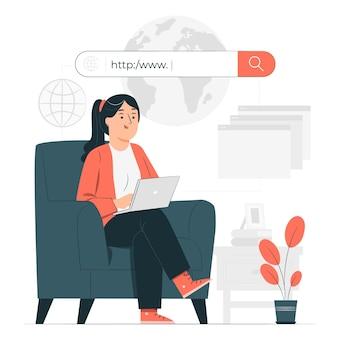 Online concept illustratie doorbladeren