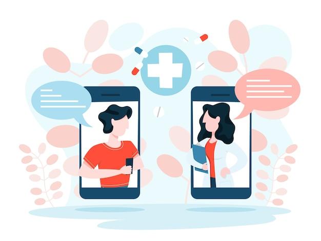 Online consult met arts. medische behandeling op afstand