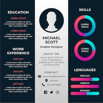 Online curriculum vitae-concept
