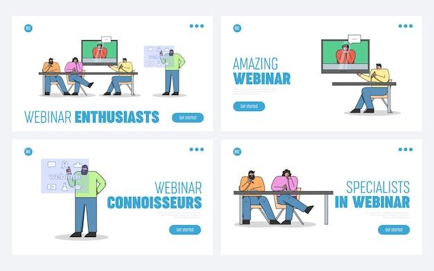 Online cursus op afstand of zakelijke videoconferentie