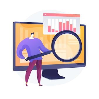 Online cursus voor gegevensanalyse. coaching, training, mentoring voor bedrijfsanalyse. bedrijfswinststatistieken en meetcontrole. diagram analyseren.