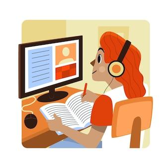 Online cursussen concept