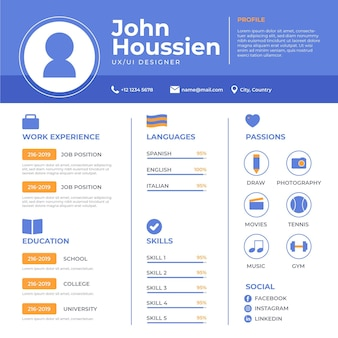 Online cv illustratie concept