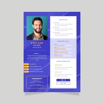 Online cv medewerker poster