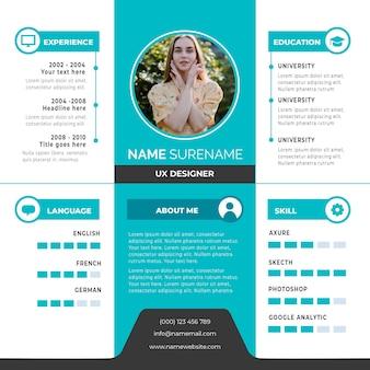 Online cv-template met foto stijl