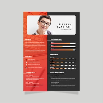 Online cv werknemer poster sjabloon
