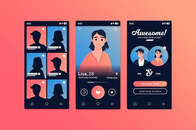 Online dating app-concept