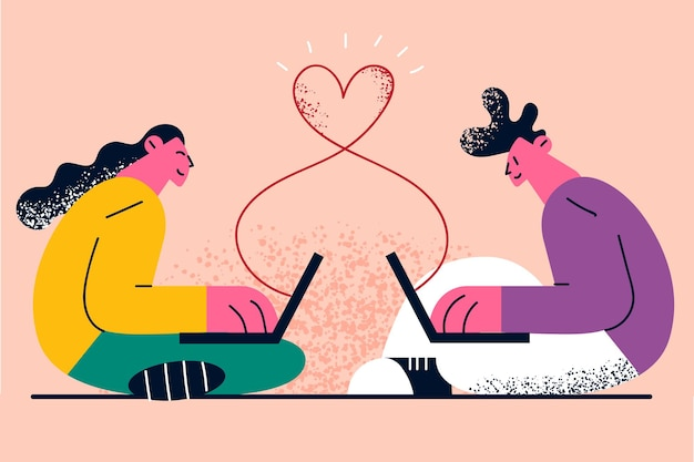Online dating communicatietechnologie op afstand