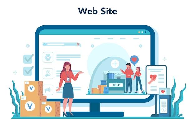 Online dienst of platform voor sociale vrijwilligers.