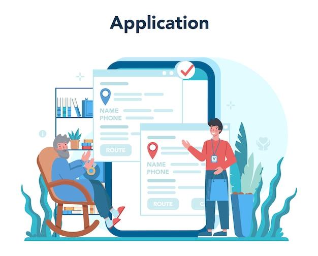 Online dienst of platform voor sociale vrijwilligers