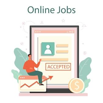 Online dienst of platform voor sollicitatiegesprekken.