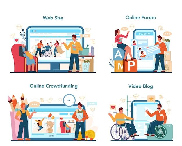 Online dienst of platformset voor sociale vrijwilligers
