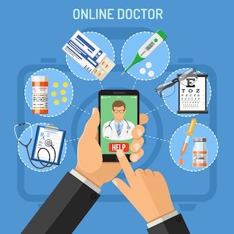 Online dokter concept