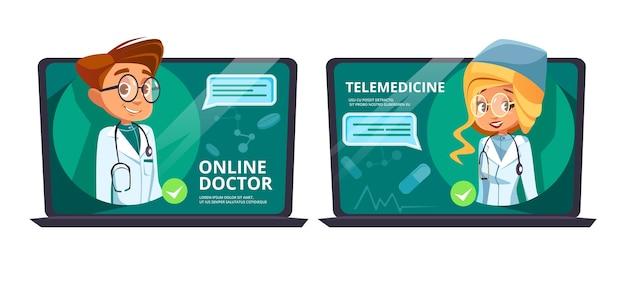 Online dokter telegeneeskunde. hulp op afstand medische hulp