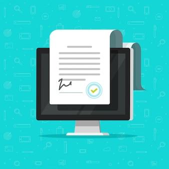 Online elektronische documenten of slimme contracten