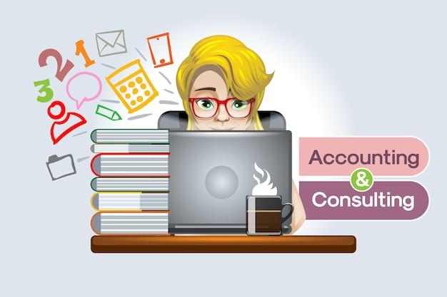 Online en ander online boekhoudkundig advies voor kleine en grote ondernemingen, bedrijfsvoering en deskundig advies.