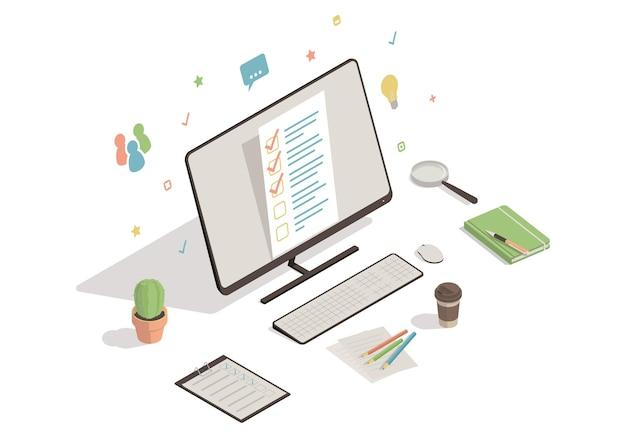 Online enquête concept illustratie
