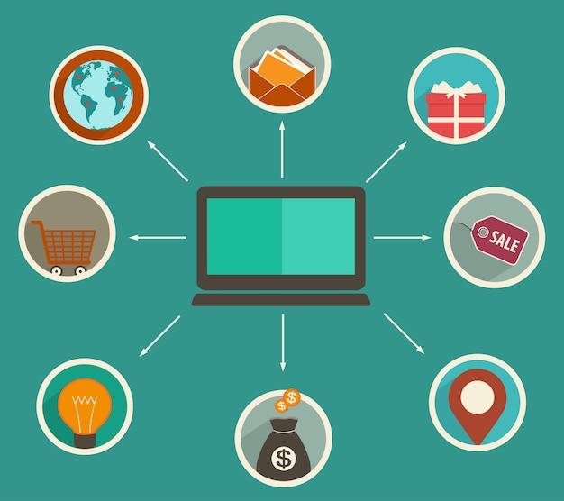 Online financiële app, bijhouden van financiële analyse op een digitaal apparaat, online winkelen.