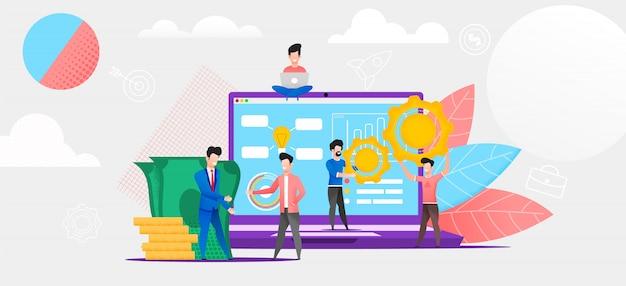 Online financiële investering in de toekomst.