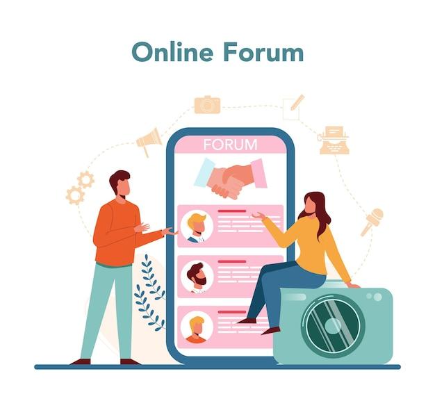 Online forumdienst of platform.