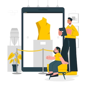 Online galerij concept illustratie
