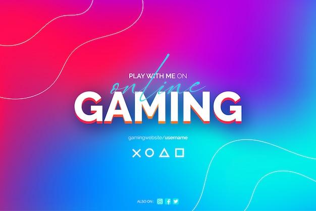 Online gaming abstract onscherpe achtergrond sjabloon