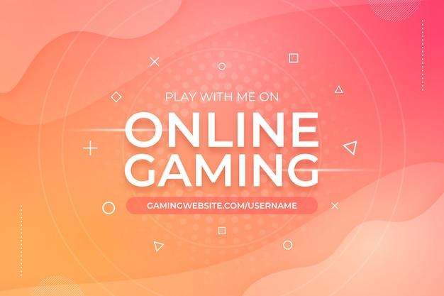 Online gaming abstracte achtergrond sjabloon