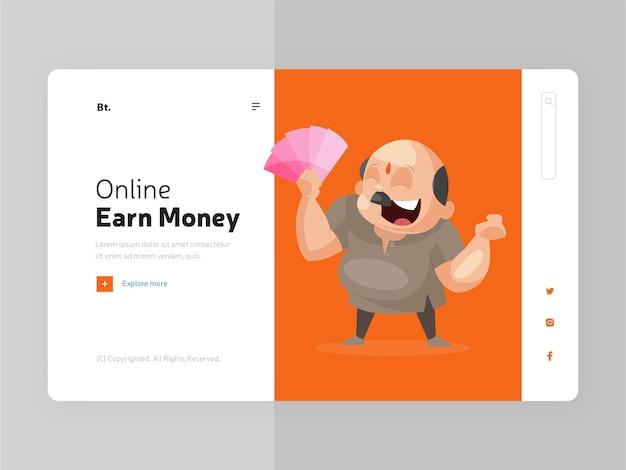 Online geld verdienen bestemmingspagina