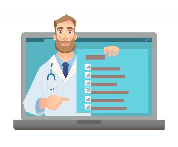 Online geneeskunde concept