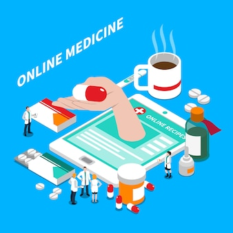 Online geneeskunde isometrische samenstelling