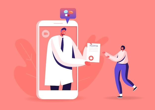 Online geneeskunde medische consultatie op afstand slimme technologie