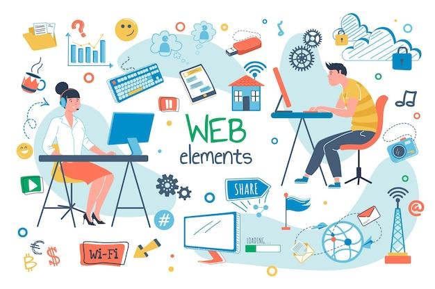Online geneeskunde platte ontwerp concept illustratie