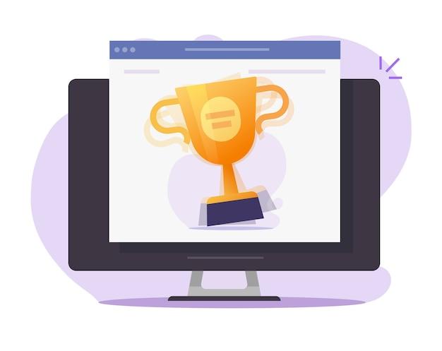 Online geschenkwedstrijd voor kampioenschappen, digitale webprijs online op internet