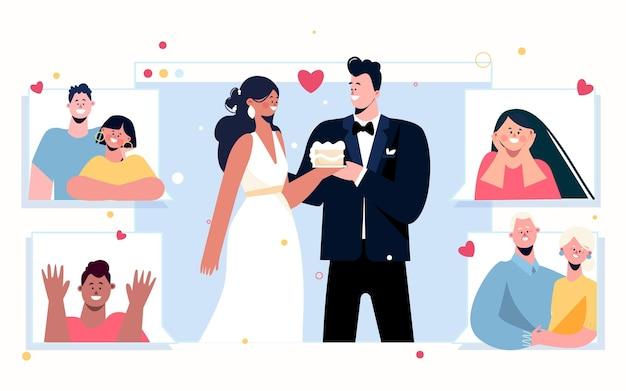 Online huwelijksceremonie