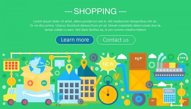 Online infographic winkelen