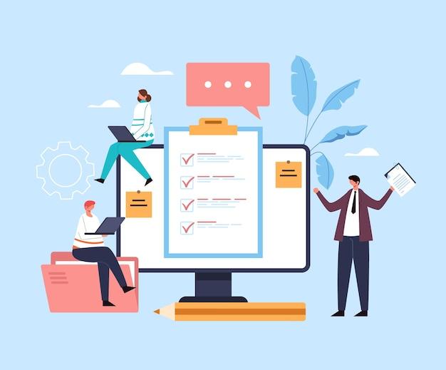 Online internet vragenlijst concept.