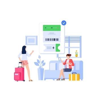 Online kaartje concept
