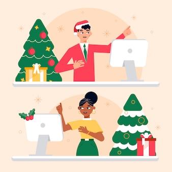 Online kerstviering
