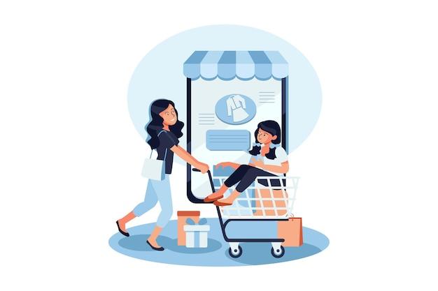 Online klanten beoordelen en beoordelen illustratie