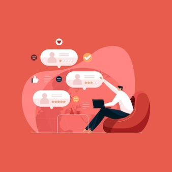 Online klantenonderzoek klantbeoordeling beoordeling en feedback ervaring en loyaliteit van eindgebruikers