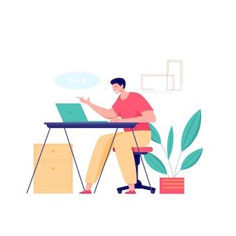 Online klas ontmoet concept