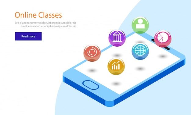 Online klassen websjabloonontwerp.