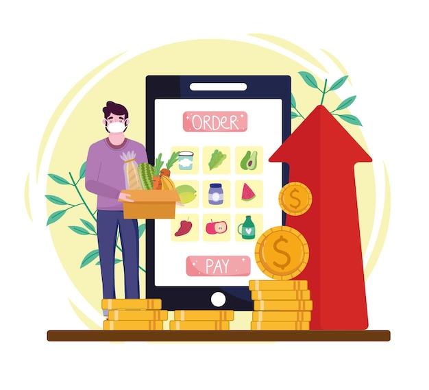 Online kruidenierswinkel
