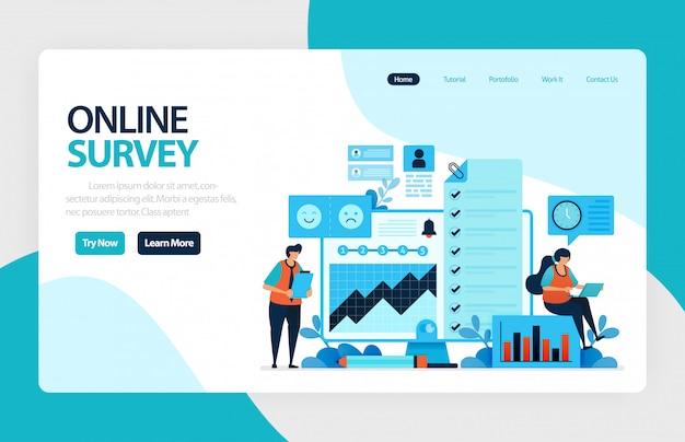 Online landingspagina voor enquêtes